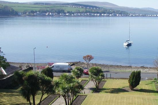Rothesay, UK: view from room of the Glenburn Hotel