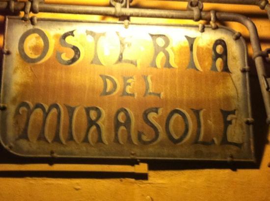 Antica Osteria del Mirasole: la targa del ristorante