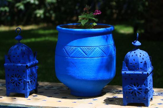 Riad Jean Claude: détail de poteries du jardin