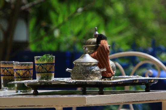 Riad Jean Claude: le Thé à la menthe d'accueil, a votre arrivée