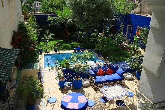 Riad Jean Claude: déjeuner pris, la piscine nous attend !