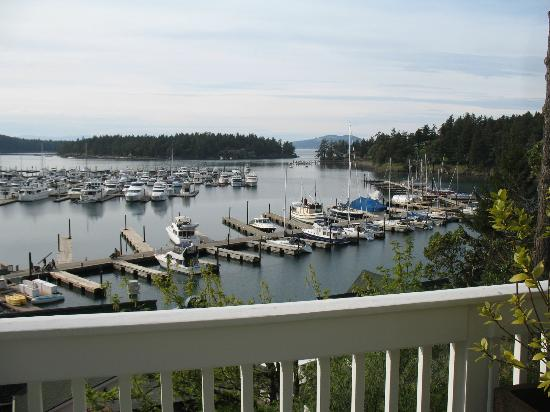 Roche Harbor Resort: View of harbor from our room.