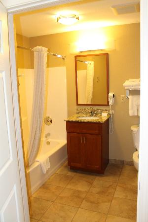 Candlewood Suites Reading: Looking into the bathroom