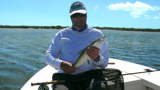 Da Reel Deal Fishing Charters: Me with my much smaller bonefish - Feb. 2012
