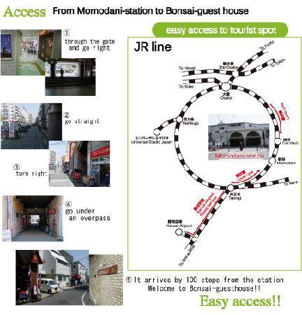 Bonsai Guesthouse: Access Map