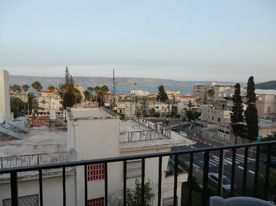 Hotel Berger: View from our balcony looking out to Sea of Galilee