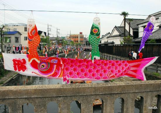 Kuranomachi Old Town: 塚田歴史伝説館前の巴波川(うずまがわ)
