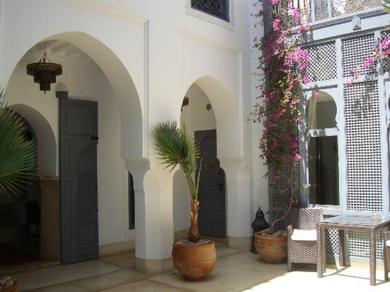 Riad Adore: The courtyard