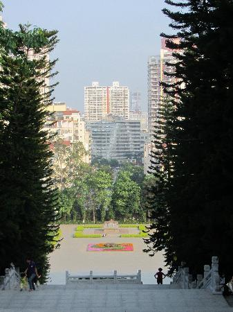 Nanning People's Park: lots of steps