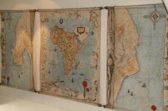 The PortsWood: World map in hotel lobby