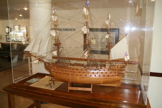 The PortsWood: Model ship in hotel reception lobby