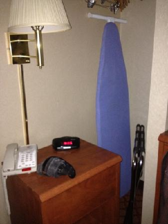 Super 8 Long Island City LGA Hotel: closet as part of room complete with ironing board! lovely