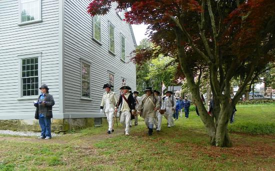a revolutionary war event at nathanael greene homestead picture of