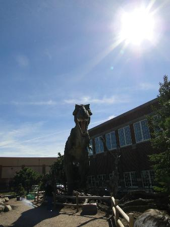 Children's Museum of South Dakota: Dinosaur outside