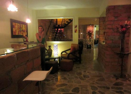 61Prado Guesthouse: the lovely Diana in reception/lobby
