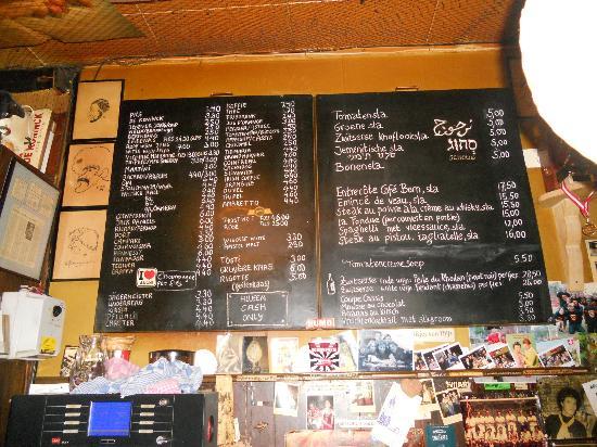 Cafe Bern: menu board