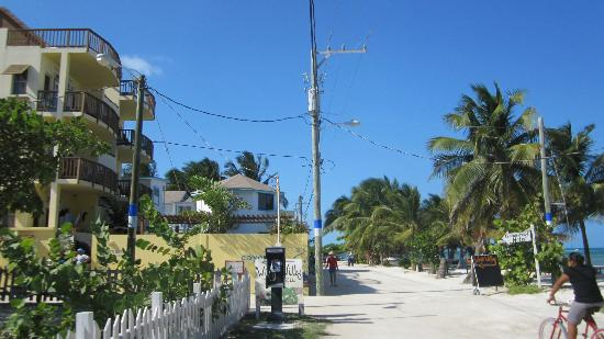 Front Street in front of CayeReef