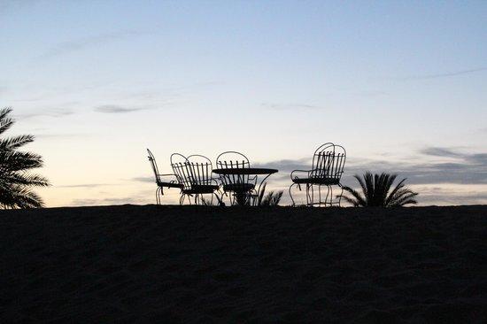 Hotel Ksar Merzouga: Sunset