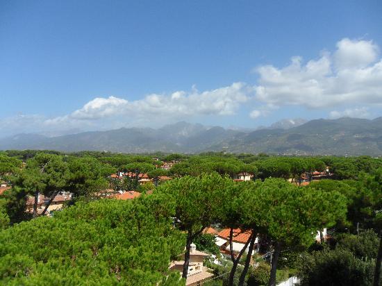 Hotel Venezia: Vista sulle Apuane dalla terrazza panoramica