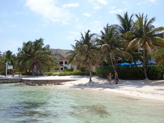 Belize Tradewinds Paradise Villas: View from Reef Adventures looking at Paradise Villas