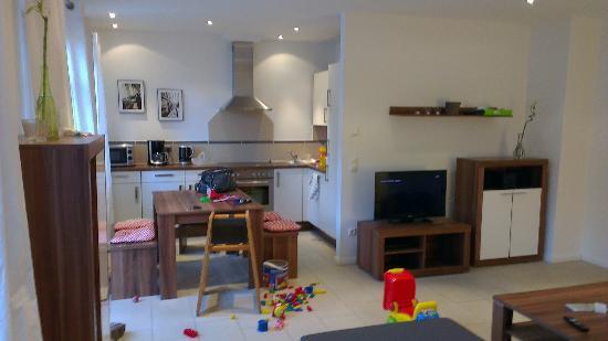 Alte Postvilla : Kitchen inside appartment