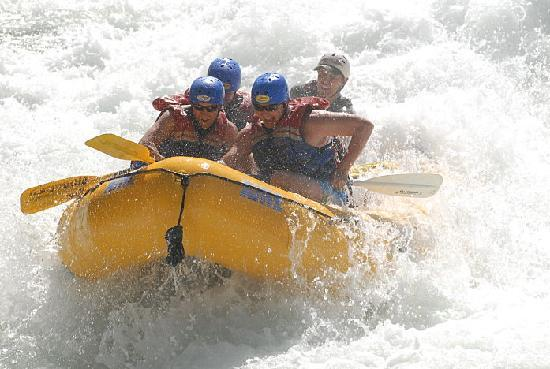 Tributary Whitewater Day Tours - Middle Fork American River Rafting: Big splashes at Tunnel Chute.