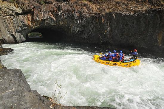 "Tributary Whitewater Day Tours - Middle Fork American River Rafting: The actual ""Tunnel"" at Tunnel Chute"