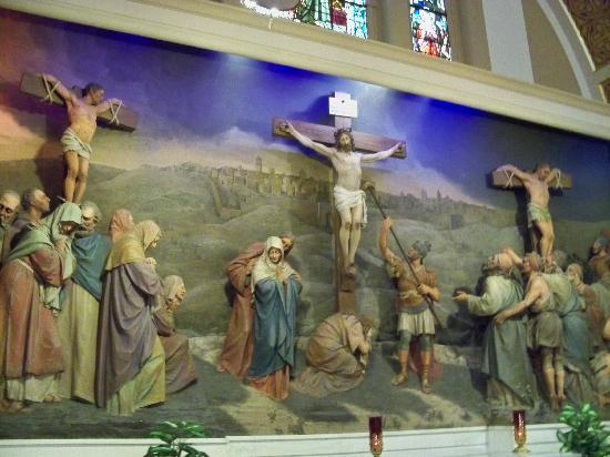 Franciscan Monastery of the Holy Land: a wall sculpture