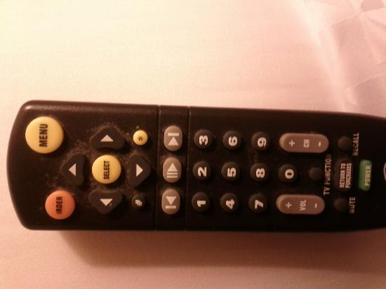 Four Points by Sheraton Vancouver Airport: Full length shot of the gross TV remote