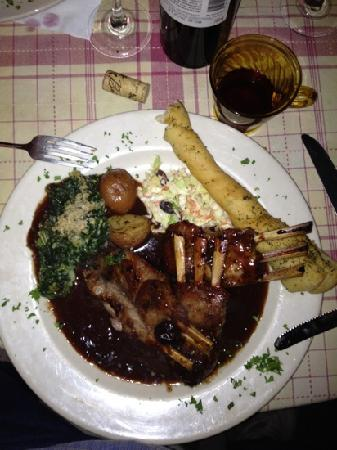 Grove Market: RACK OF LAMB WITH CREAMED SPINACH AND RED BLISS POTATOES