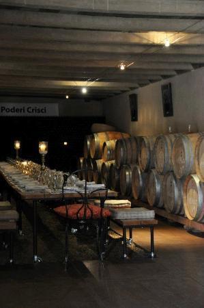 Poderi Crisci: The Cellar