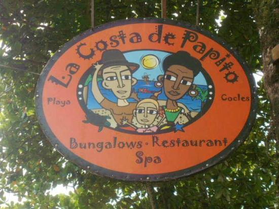 Hotel La Costa de Papito: Signage