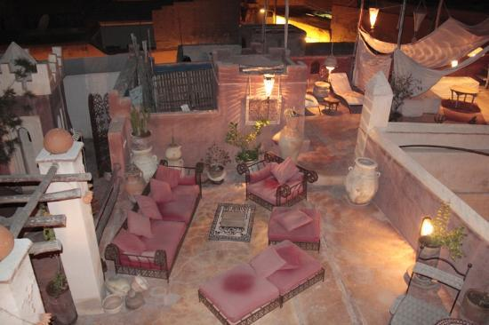 Riad les Inseparables: One of the many rooftop sitting areas