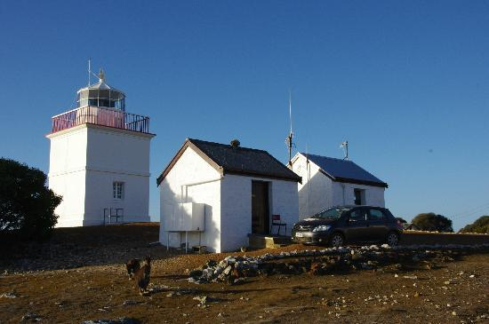 Cape Borda Lighthouse Keepers Heritage Accommodation: Woodward Hut and Cape Borda Lightouse