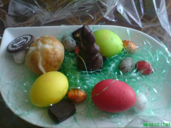 Sheraton Grand Doha Resort & Convention Hotel: Just because it was Easter, gift from hotel