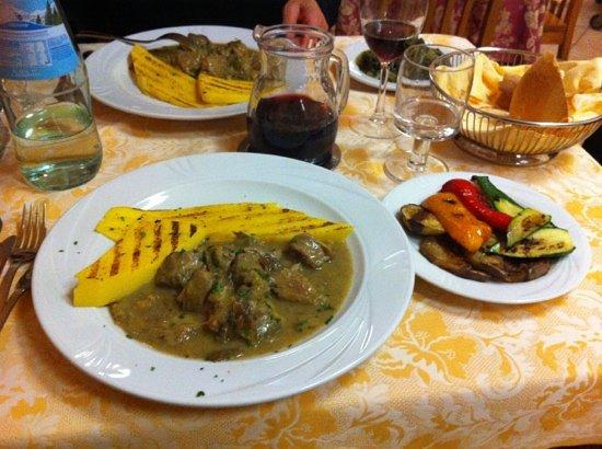 Aurora feltre veal polenta picture of restaurant for Aurora italian cuisine