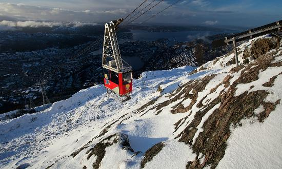 Mount Ulriken : The cabel car that bring you to the top