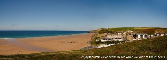 The Phoenix: Views over Watergate Bay