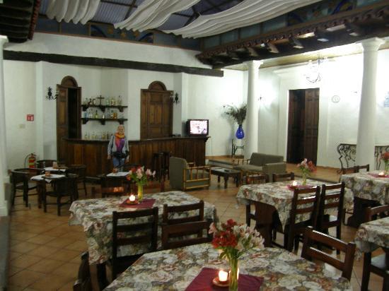 Hotel Casa de Guadalupe: sala ristorante