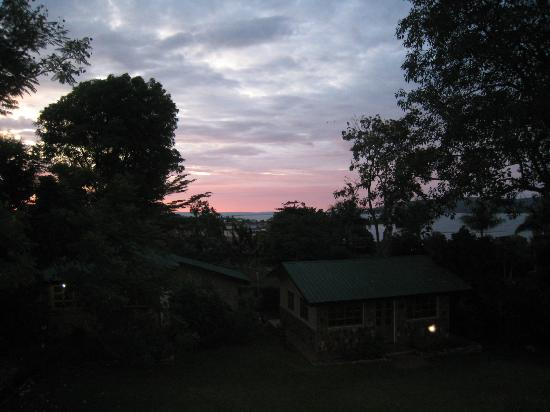 Surjio's Guest House: dawn over Lake Victoria from Balcony