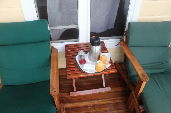 Turneffe Island Resort: Morning Tea/Coffee delivered to your door :)