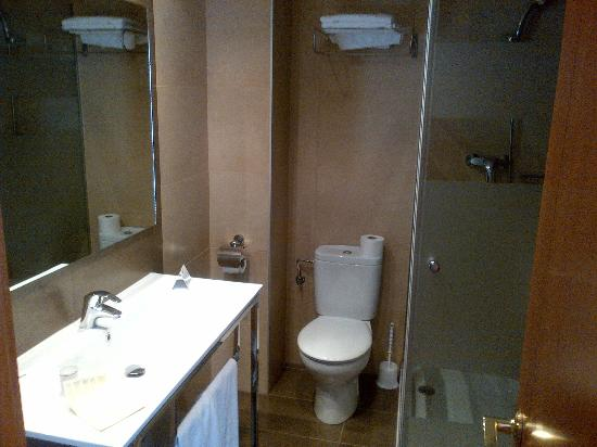 Hotel Helios Benidorm : Single bathroom walk in shower
