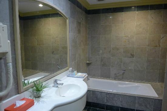 M.S. Garden Hotel Kuantan: Sink and bathtub