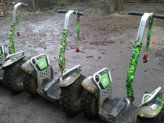Go Ape at Thetford: Segway X2s at Thetford - perfect for off-roading!