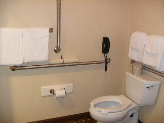The Common Man Inn: To help disabled users with the bathroom