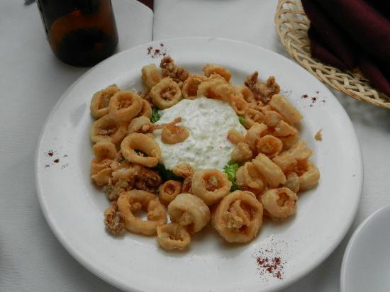 Il Mosto: calamari appetizer