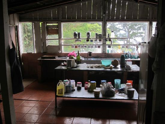 Lagunillas Lodge: Kitchen in the restaurant