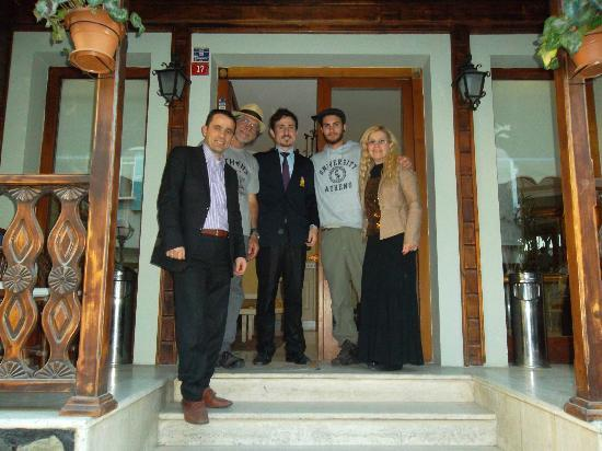 Artefes Hotel Istanbul: photograph of my family with Mr. Mourat in front of the Artefes hotel