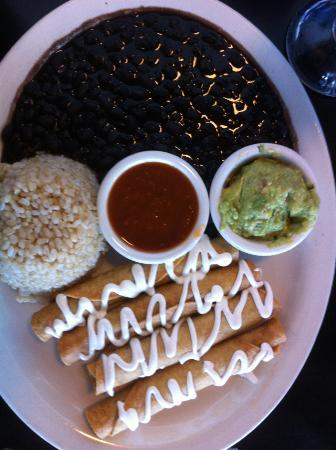 Saturn Cafe: Taquitos, Rice & Beans