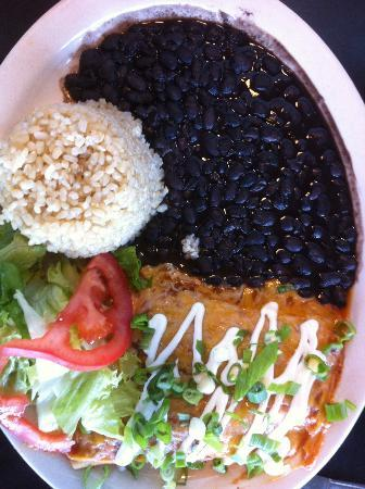 Saturn Cafe: Enchiladas, Rice & Beans